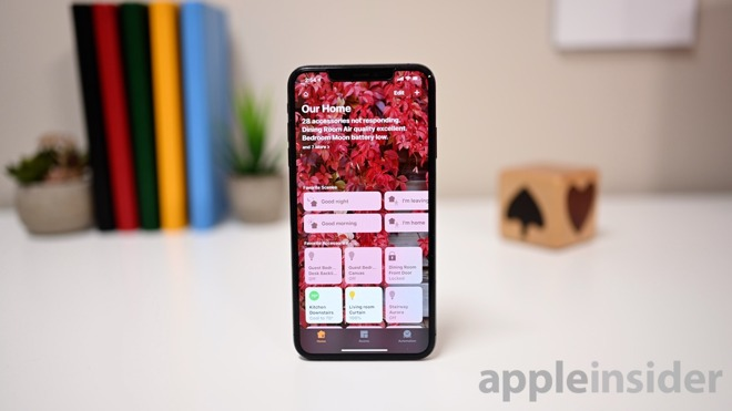 Apple Home app for controlling HomeKit devices