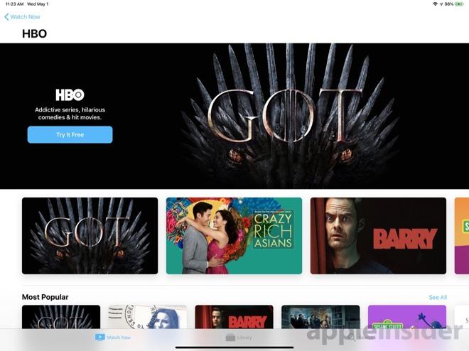 HBO in Apple TV Channels