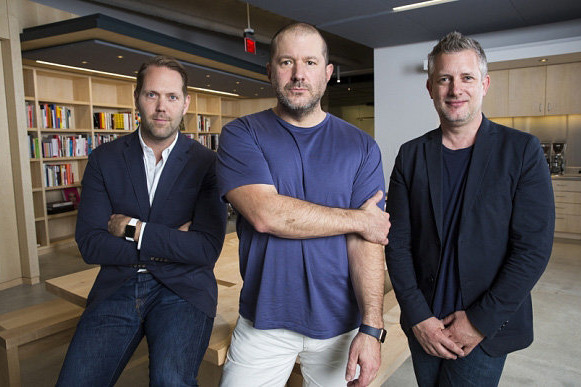 They're all staying. L-R: Alan Dye, Jony Ive, Richard Howarth. (Source: The Telegraph)