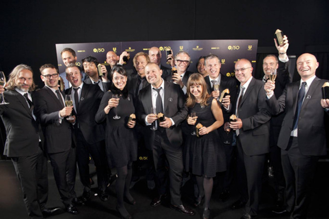 An extremely rare group shot of the entire ID team as it was in 2012 when they received a prestigious design award.