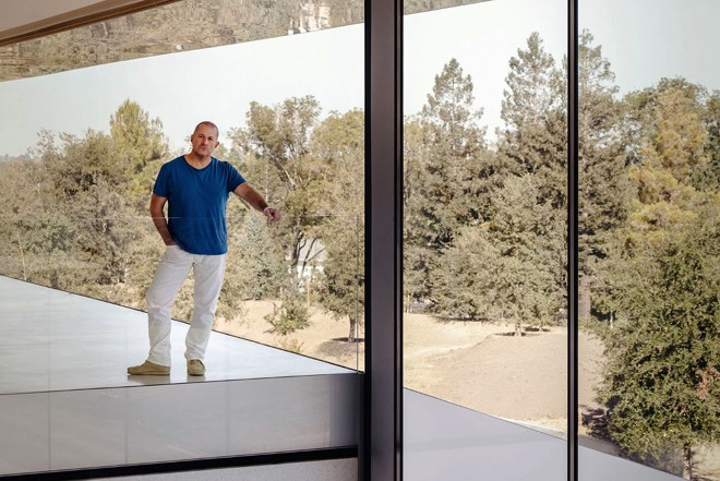 Jony Ive at Apple Park. (Source: Wallpaper)