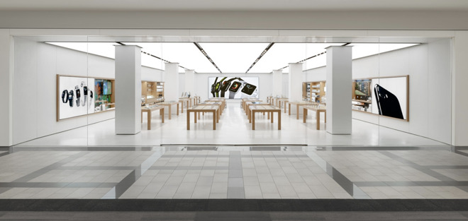 The Apple Store in Brea, Calif.