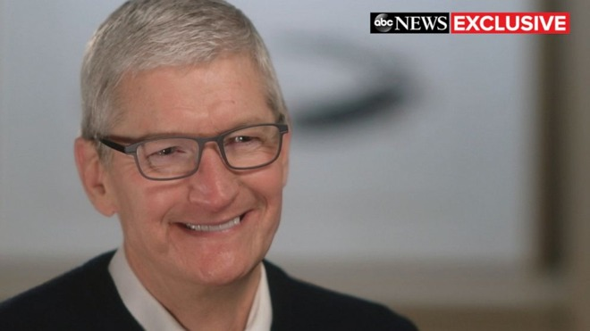 Tim Cook, sitting down with ABC News