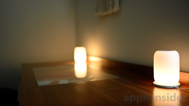 A pair of Casper Glow lamps