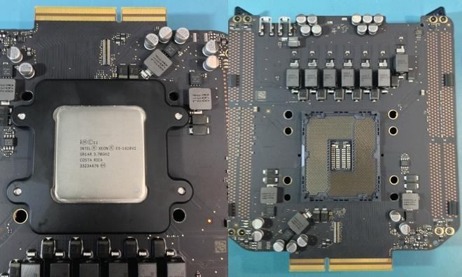 The socketed processor in the 2013 Mac Pro