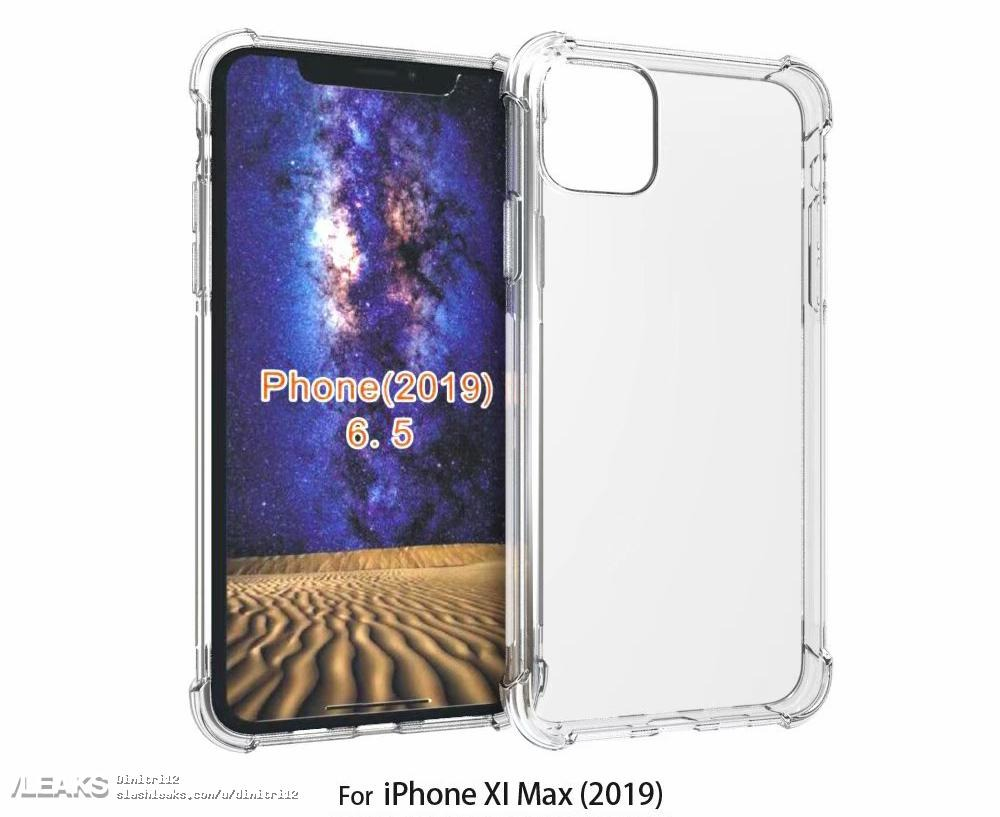 Render of '2019 iPhone' case highlights square rear camera bump
