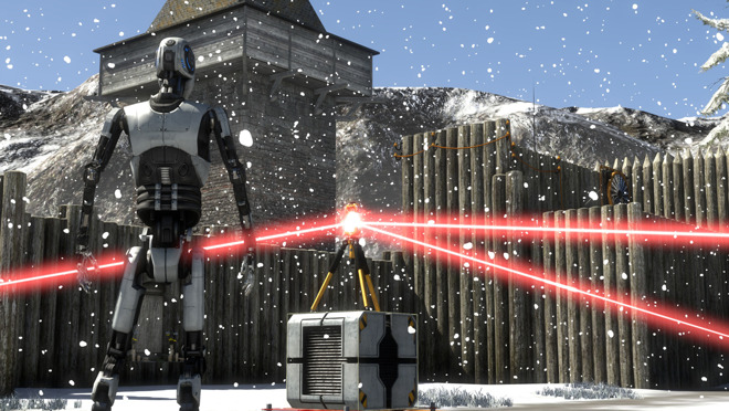 The Talos Principle, one of the most popular iPhone games at the moment.