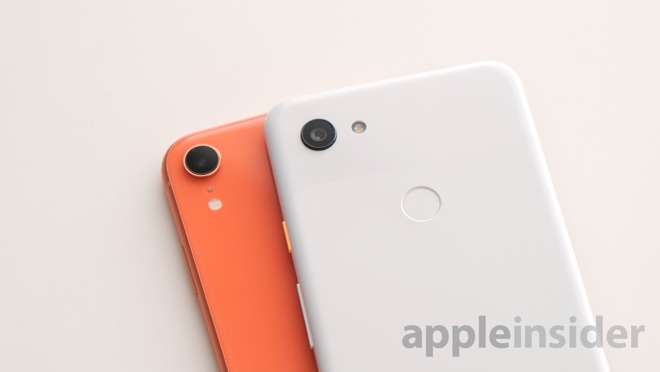 Comparing Apple's iPhone XR versus Google's Pixel 3a XL