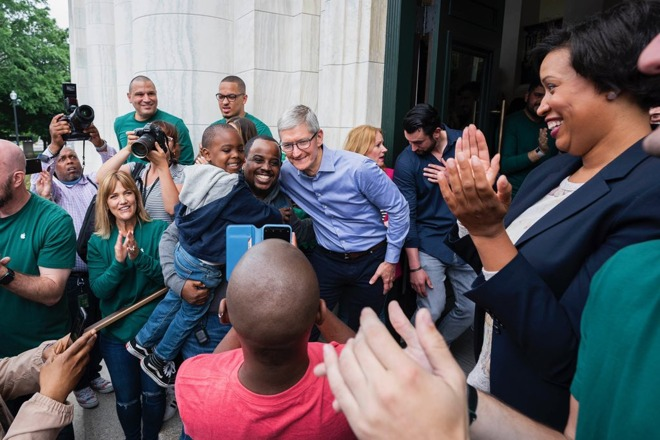 Apple Carnegie Library opening with Tim Cook and Muriel Bowser