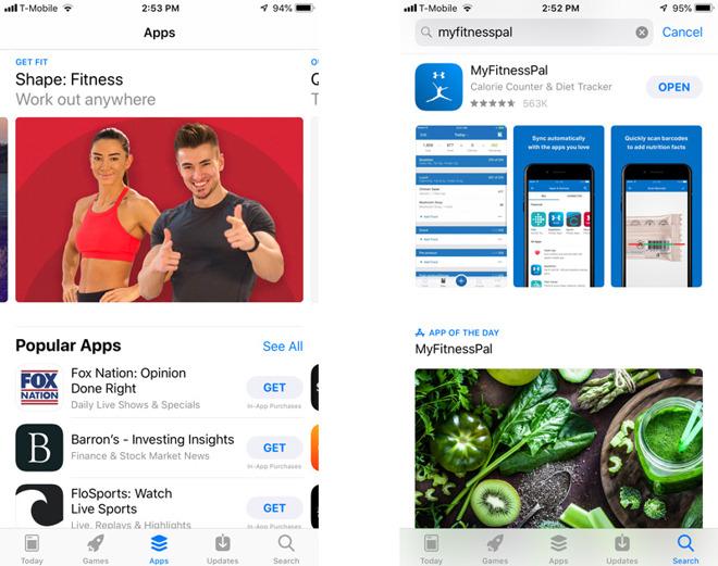 iOS 12 App Store