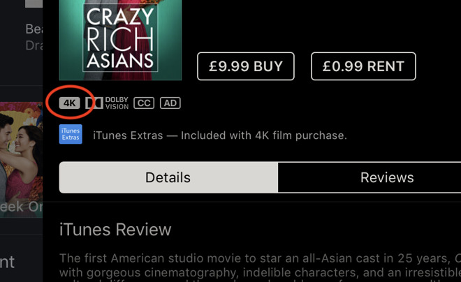 iTunes issue downgrades 4K movies to HD resolution for some