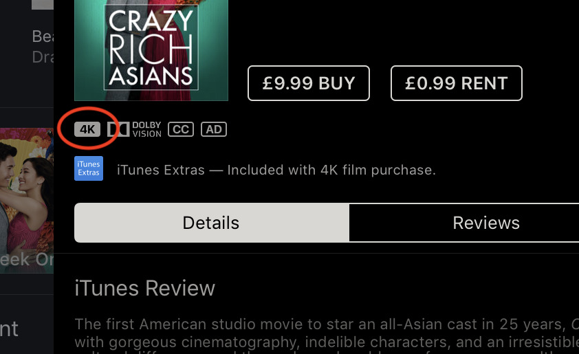 iTunes issue downgrades 4K movies to HD resolution for some customers