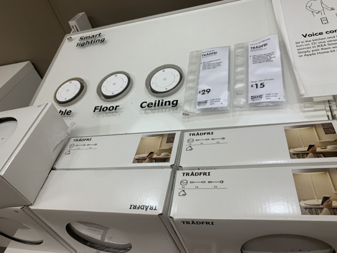 A UK Ikea store's promotion of its smart lighting system.
