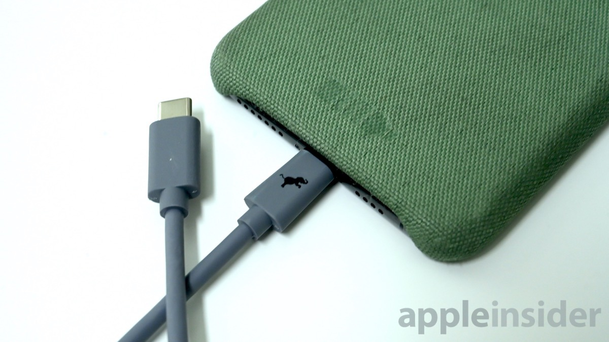 Nimble USB-C to Lightning cable with the Bottle Case