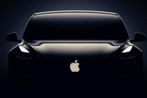 Mockup of an Apple electric car (based on a Tesla)