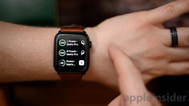Powerbeats Pro battery life on Apple Watch