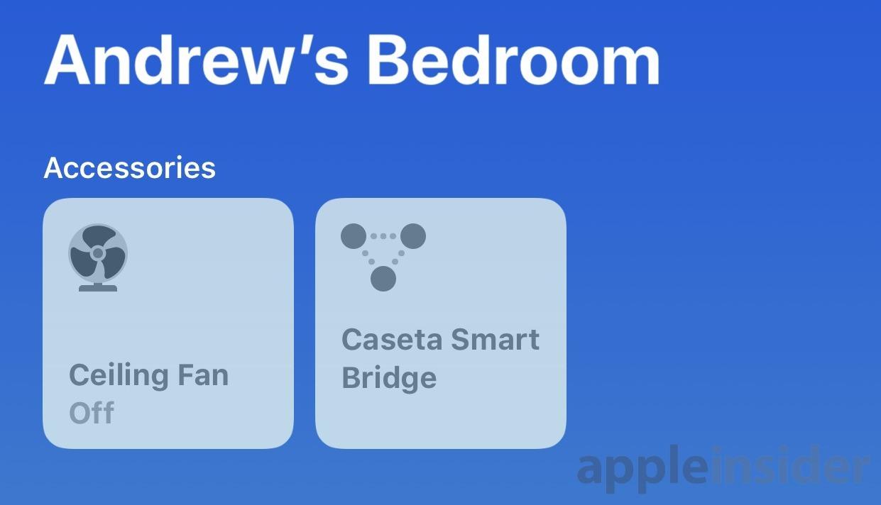 Lutron fan and bridge in HomeKit