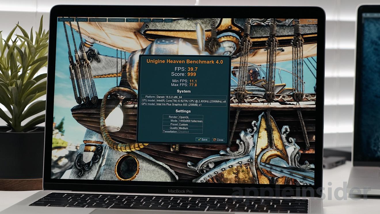 2019 13-inch MacBook Pro Unigen Heaven