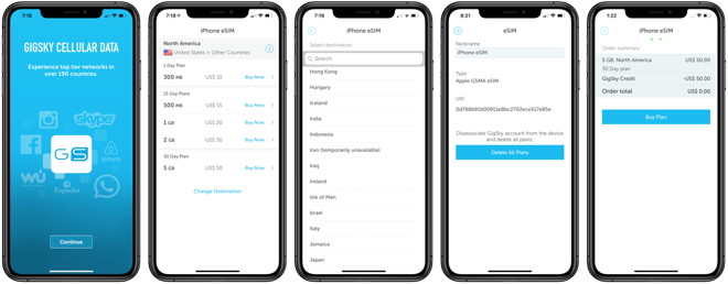 Review: GigSky, an eSIM service for iPhone XS, XS Max, and XR