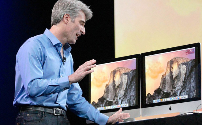 Craig Federighi during an Apple presentation