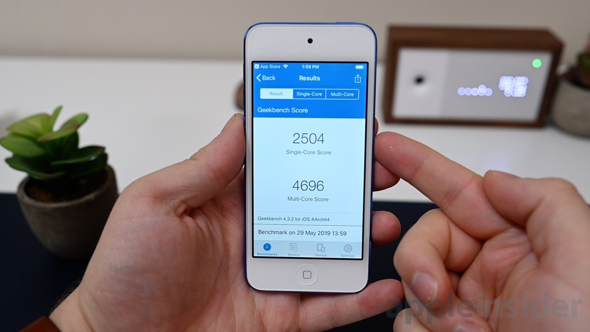 iPod touch (2019) Geekbench 4 scores