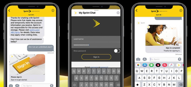 Sprint Apple Business Chat