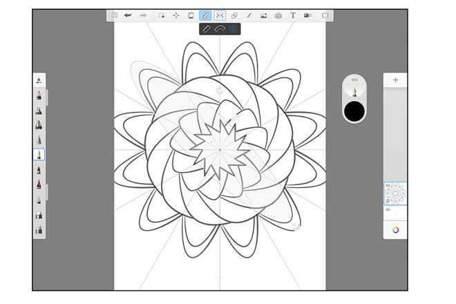 Autodesk SketchBook UI