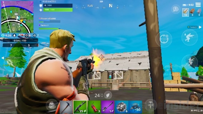 Fortnite' on the new iPod touch is playable, but with limits