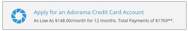 Adorama Credit Card Offer