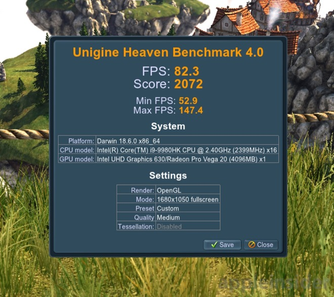 2019 Vega 20 Unigine Heaven results