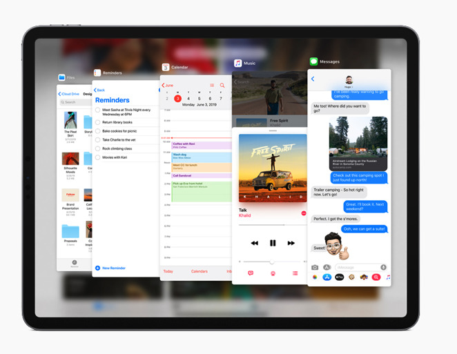 The newly enhanced Split View and Slide Over in iPadOS
