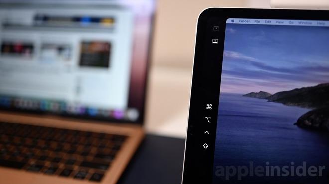 The side bar on an iPad Pro