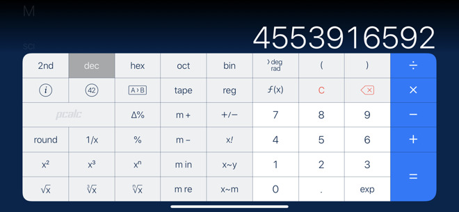 PCalc is a calculator app that runs on everything. This is the iPhone version, but it's on iPad, Mac, Apple Watch and even Apple TV too