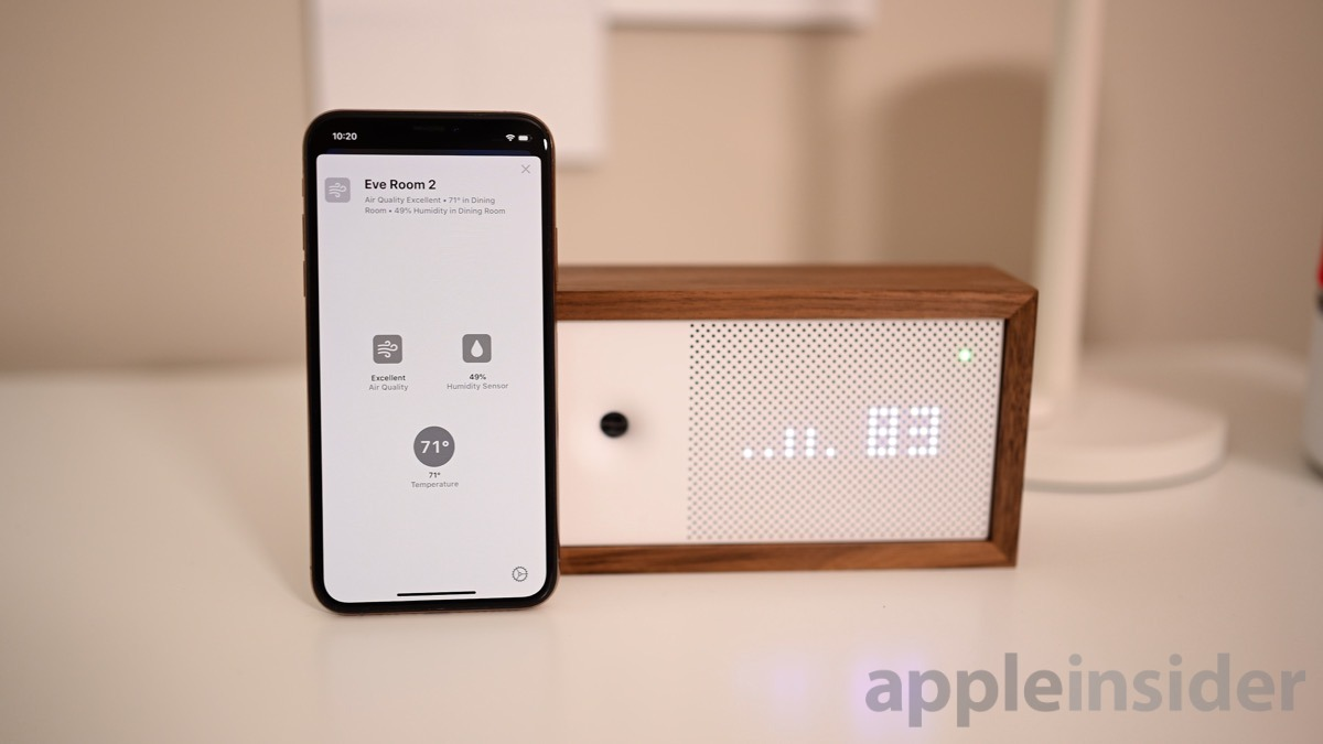 Eve Room 2 gets combined in iOS 13