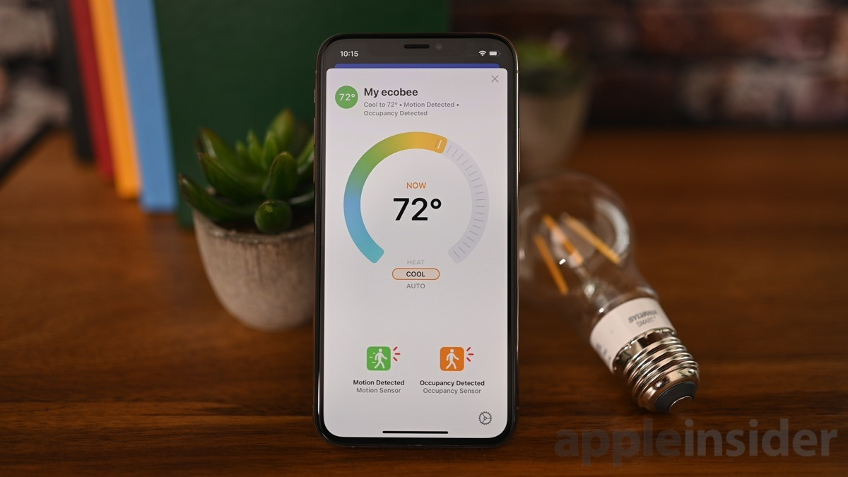 New thermostat UI in iOS 13's Home app