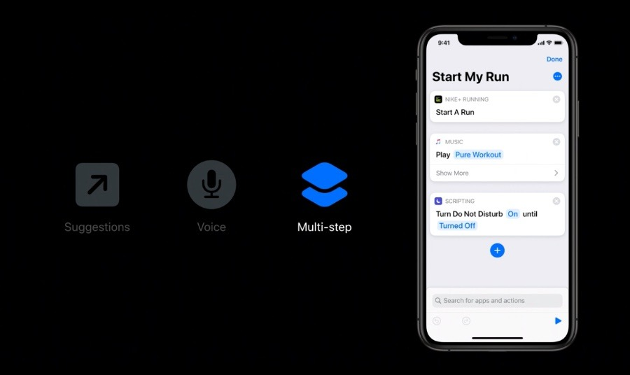 From an Apple developer video, this is showing the many different ways you can call a shortcut