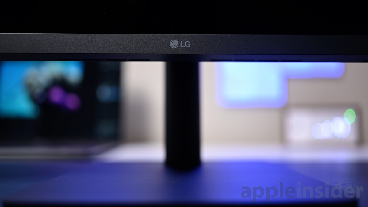 LG's logo is fairly small on the 23.7-inch 4K UltraFine display