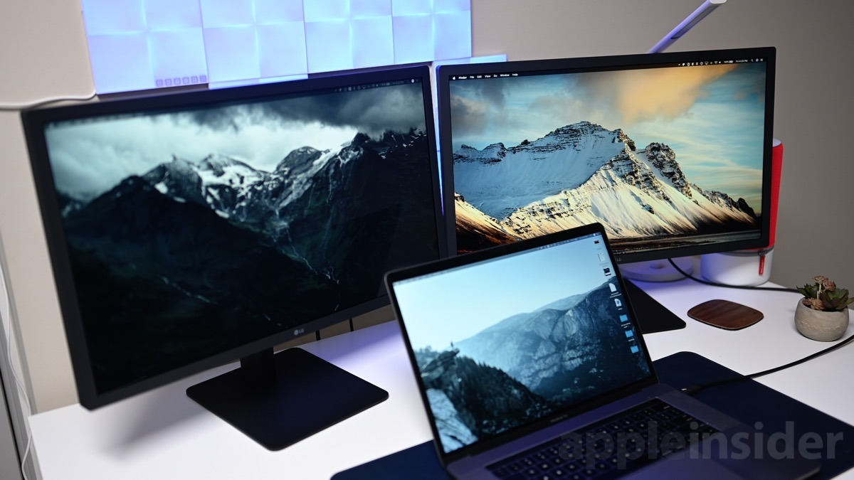 Multiple monitor setup with Thunderbolt 3