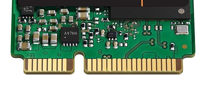 An example of an mSATA connector