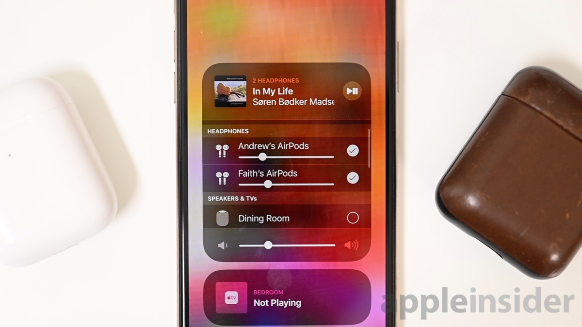How To Share Your Audio With Two Airpods In Ios 13 Appleinsider