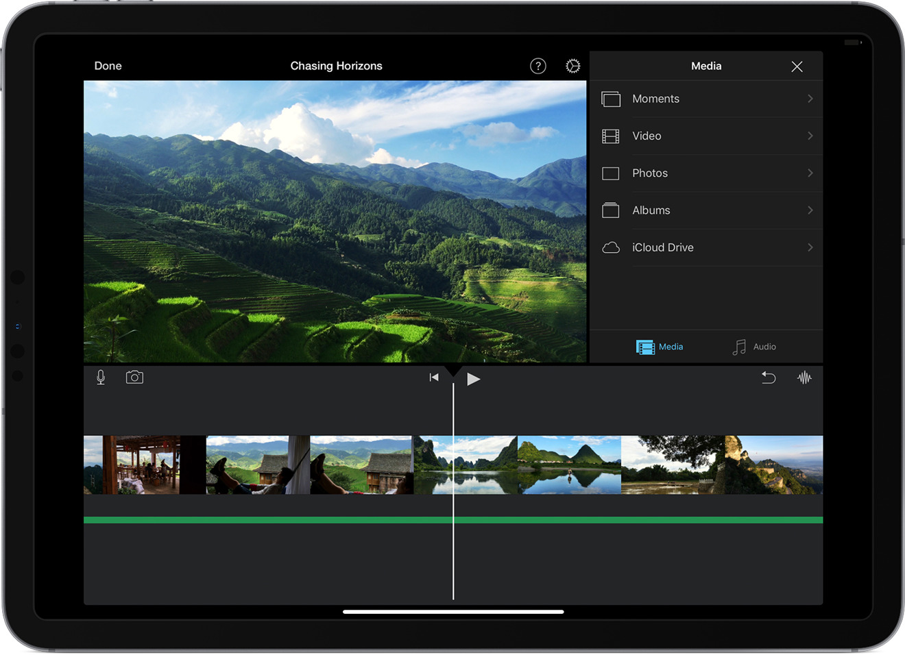 photo of iMovie for iPhone & iPad updates for green screens, ClassKit, new soundtracks image