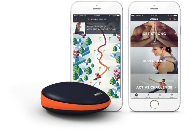Activ5 fitness app and device