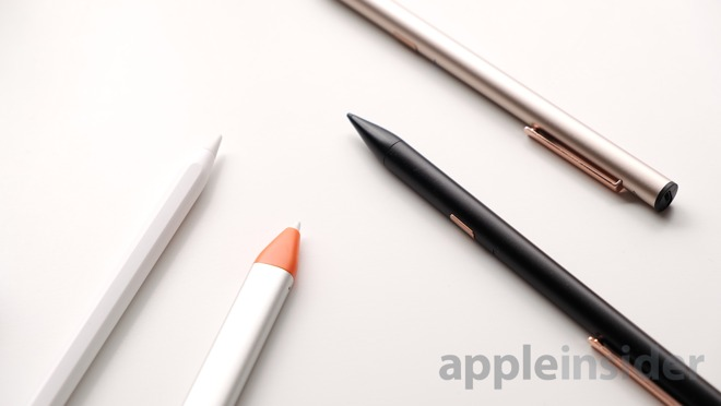 Adonit Note with Apple Pencil, and Logitech Crayon