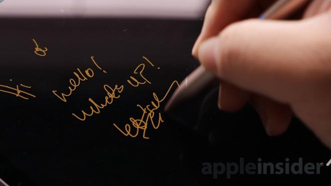 Writing on iPad Pro 2018