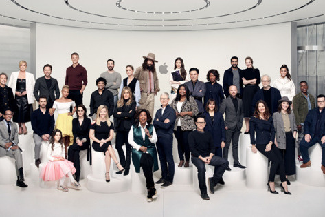 The creators of some of the first shows on Apple TV+ gathered at Apple Park