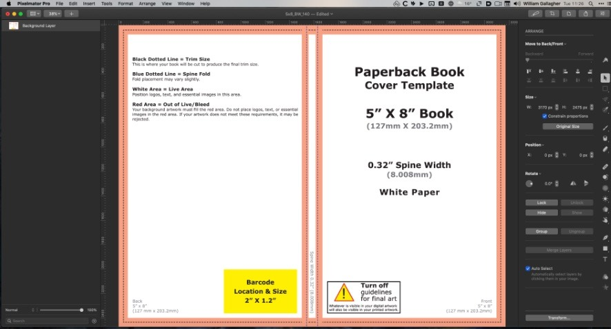 If you feed Amazon's publishing service with the page count, trim size and type of paper in your book, it will make this cover template for you.