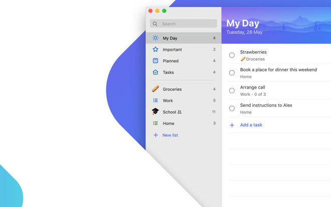 Microsoft To-Do macOS