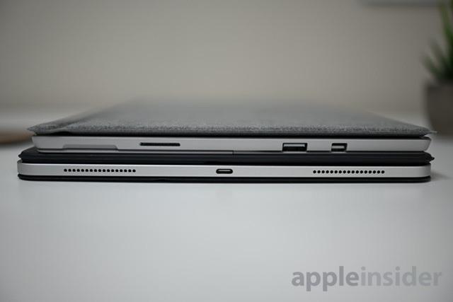 Surface Pro 6 on top of iPad Pro