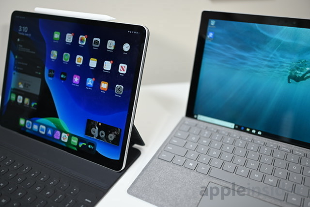 The iPad Pro is is a more integrated device while the Surface Pro 6 is the best Windows device