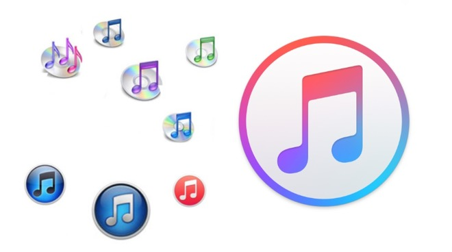 The many icons of iTunes through the years